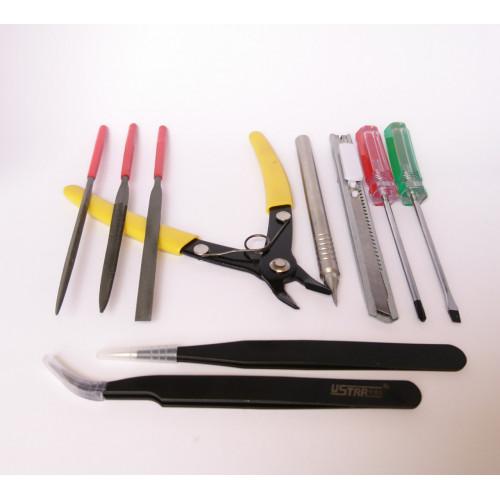 Набор инструмента для моделизма (10 предметов)