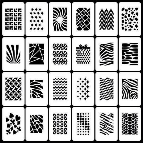Трафареты для ногтей  №190 Принт