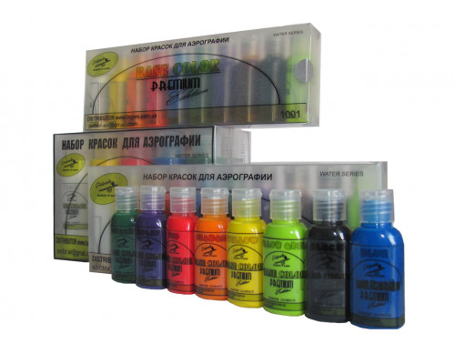 Набор красок для аэрографии Base Color Premium Edition