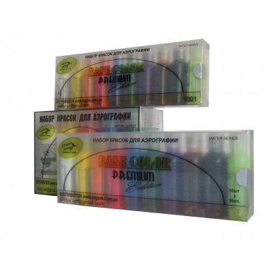 Набор красок для аэрографии 1002/50 Base Color Premium Edition 10 цветов по 50 мл