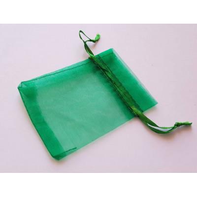 Мішечки з органзи 7х9см зелений