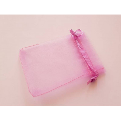 Мішечки з органзи 7х9см рожевий