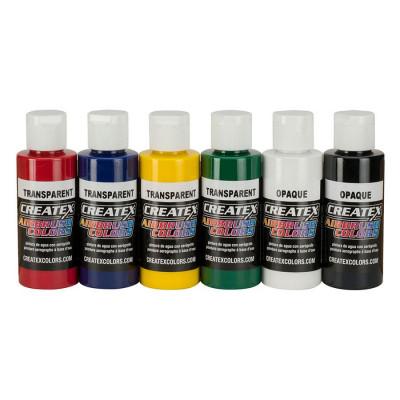 Createx AB Primary Set  5801 (набор основных полупрозрачных цветов), 6 по 60 мл