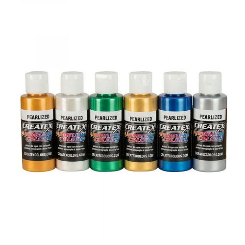 Createx AB Pearl Set (набор перламутровых красок), 6 по 60 мл