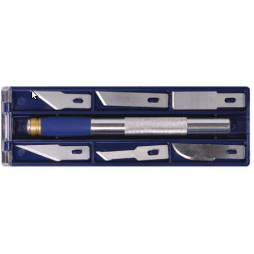 Ножи моделярские 6шт + держатель