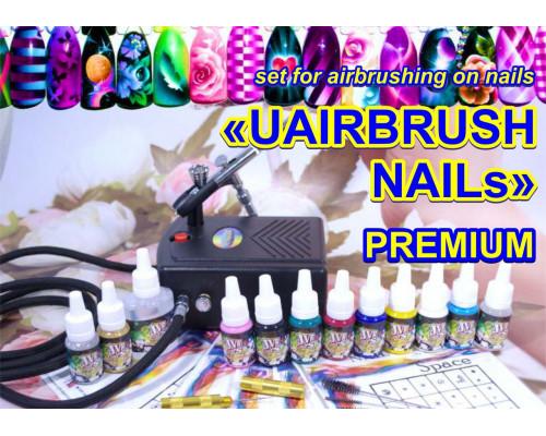 Набор для аэрографии на ногтях UAIRBRUSH NAILs PREMIUM (UN-S3)