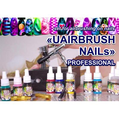 """Набор для аэрографии на ногтях """"UAIRBRUSH NAILs"""" PROFESSIONAL (UN-S2)"""