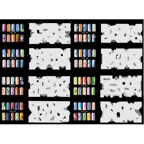 Набор многоразовых трафаретов для ногтей JFN 7