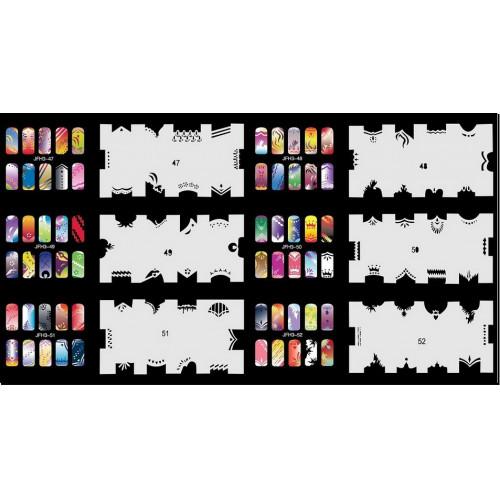 Набор многоразовых трафаретов для ногтей JFN 3