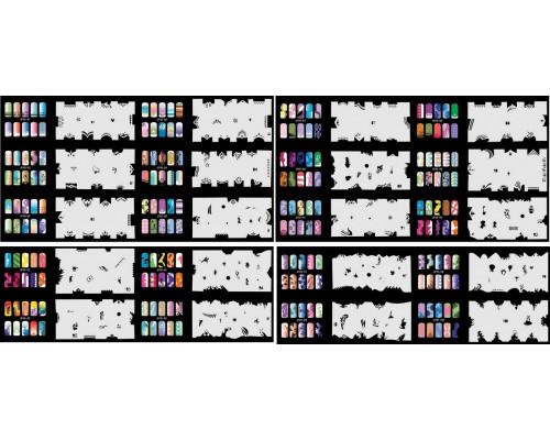 Набор многоразовых трафаретов для ногтей JFN 5