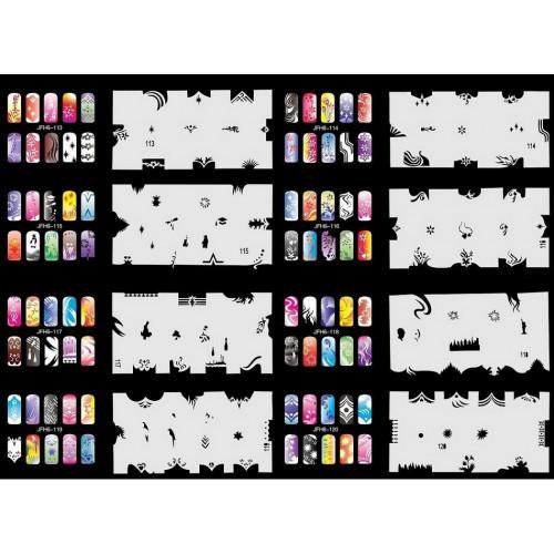 Набор многоразовых трафаретов для ногтей JFN 6