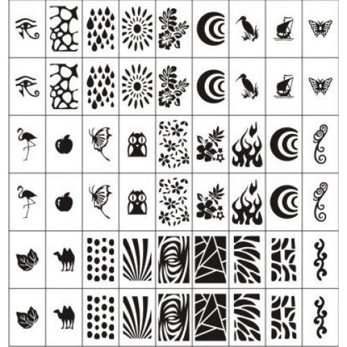 Трафареты-наклейки для nail-art Лето