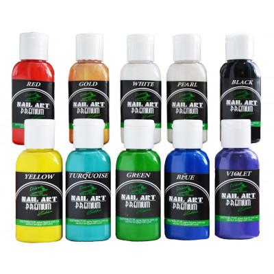 Краска для ногтей PREMIUM 5701/30  Nail-Art Water series (набор 10х30ml)