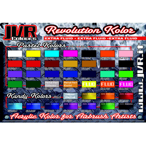 JVR Revolution Kolor, opaque flesh tint #107, 30ml