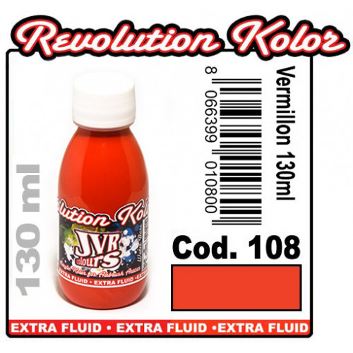 JVR Revolution Kolor, opaque vermillon #108,130ml