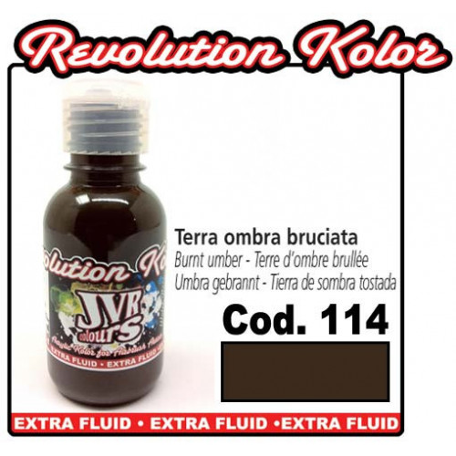 JVR Revolution Kolor, opaque burnt umber #114,130ml