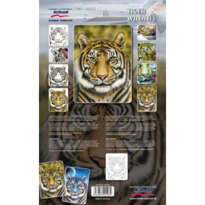 "Трафарет ""Живая природа, тигр"" 410130"