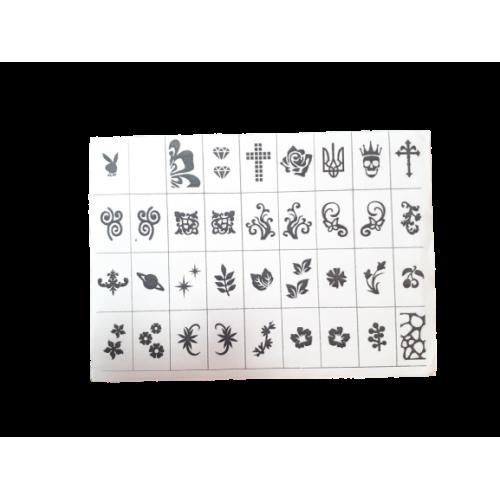 Трафареты-наклейки для Nail-art №4