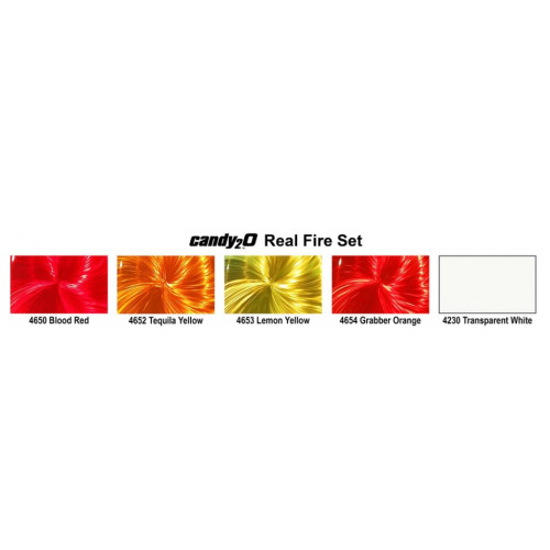 Кэнди краска Createx Candy2o Real Fire Set набор 4970-02, 120 мл