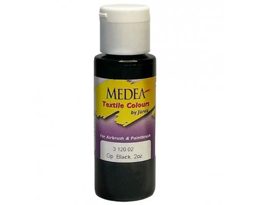 Краска текстильная Medea 312002 Black, черная, 60 мл