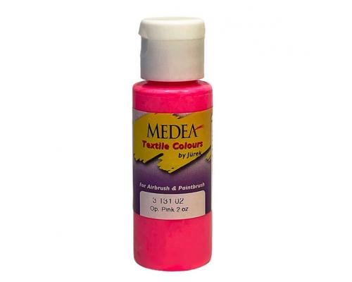 Краска текстильная Medea 313102 Pink, розовая флюоресцентная, 60 мл