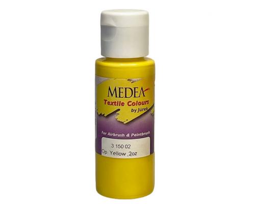 Краска текстильная Medea 315002 Yellow, желтая, 60 мл