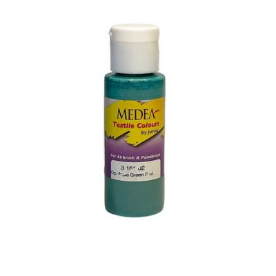 Краска текстильная Medea 316102 Aqua Green, морская зеленая, 60 мл