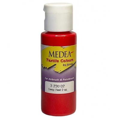 Краска текстильная Medea 323002 Deep Red, глубокая красная, 60 мл