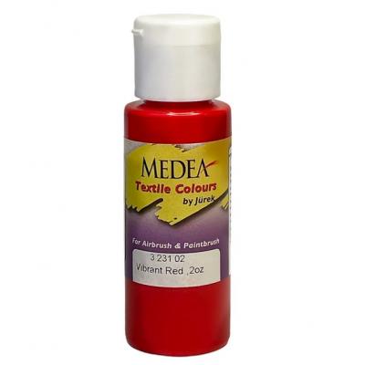 Краска текстильная Medea 323102 Vibrant Red, яркая красная, 60 мл