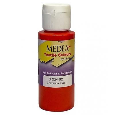 Краска текстильная Medea 323402 Vermillion, киноварь, 60 мл