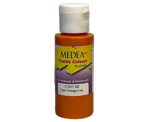Краска текстильная Medea 324102 Tiger Orange, оранжевая, 60 мл