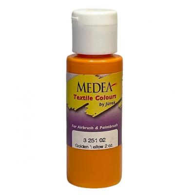 Краска текстильная Medea 325102 Golden Yellow, желтая золотистая, 60 мл