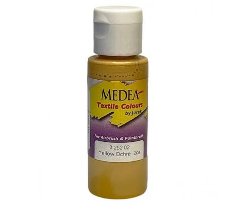 Краска текстильная Medea 325202 Yellow Ochre, охра, 60 мл
