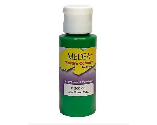 Краска текстильная Medea 326002 Leaf Green, зеленый лист, 60 мл