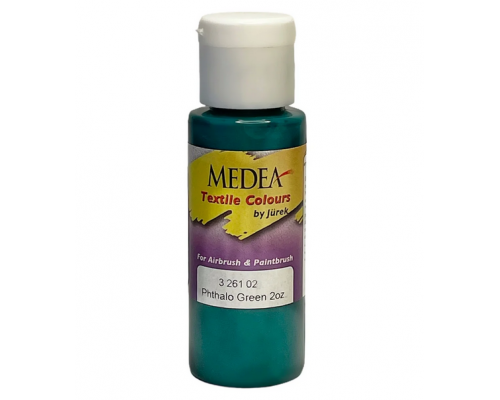 Краска текстильная Medea 326102 Phthalo Green, зеленая фталевая, 60 мл