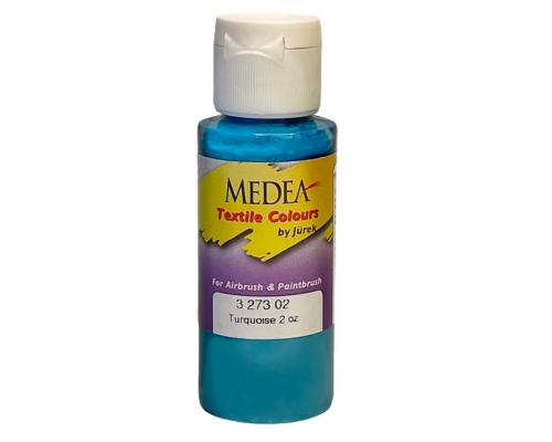 Краска текстильная Medea 327302 Turquoise, бирюзовая, 60 мл