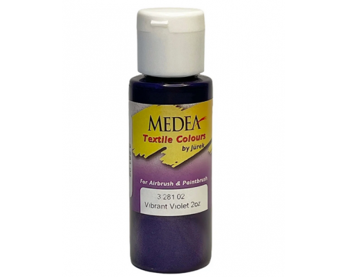 Краска текстильная Medea 328102 Vibrant Violet, яркая фиолетовая, 60 мл