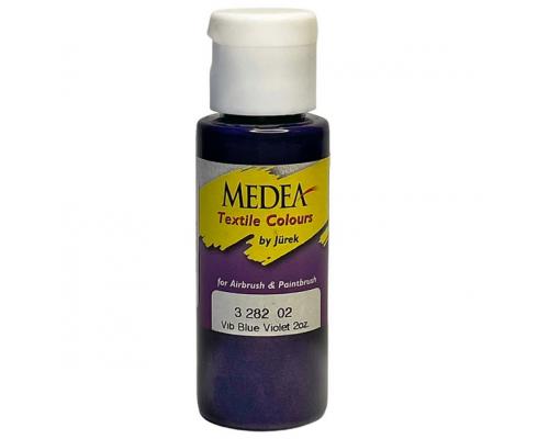 Краска текстильная Medea 328202 Blue Violet, сине-фиолетовая, 60 мл