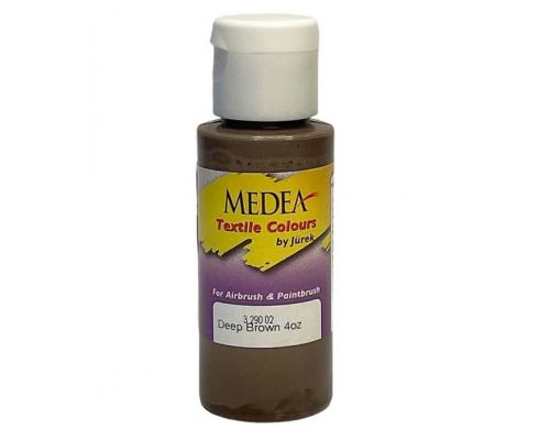Краска текстильная Medea 329002 Deep Brown, глубокая коричневая, 60 мл