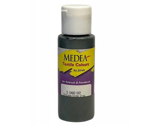 Краска текстильная Medea 356002 Smoke Gray, серая, 60 мл